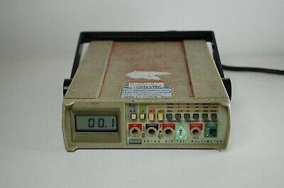 Fluke 8010a Digital Multimeter 3-1 2 Digit Dmm True Rms Bench Meter Portable