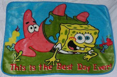 Spongebob Squarepants Nickelodeon Plush Throw Blanket Best Day Ever