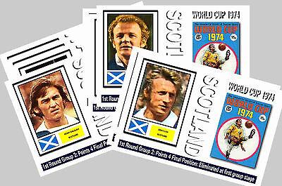SCOTLAND - 1974 WORLD CUP  SERIES 1 - COLLECTORS POSTCARD SET