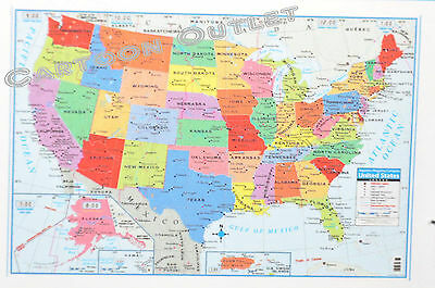 Large Us Map Poster Wall Art Print Decoration 40  X 28  Superior Mapping Co Us