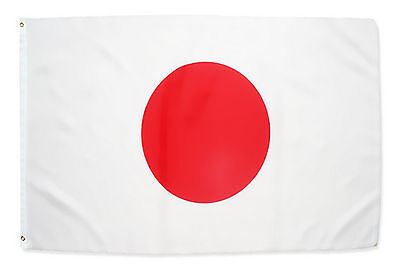 Fahne Japan Querformat 90 x 150 cm japanische Hiss Flagge Nationalflagge