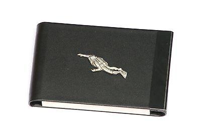 Diver Design Black Pu And Metal Business Or Credit Card Holder Gift 105