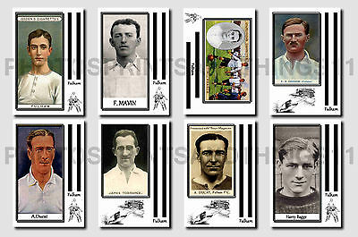 FULHAM - CIGARETTE CARD HISTORY 1900-1939 - Collectable postcard set # 1