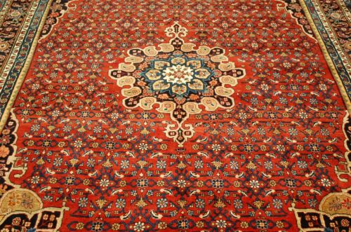 C1930s Antique Fine Kork Wool_high Kpsi Room Size Prsian Bijar Rug 7.5x11