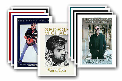 GEORGE MICHAEL  - 10 promotional posters - collectable postcard set # 1