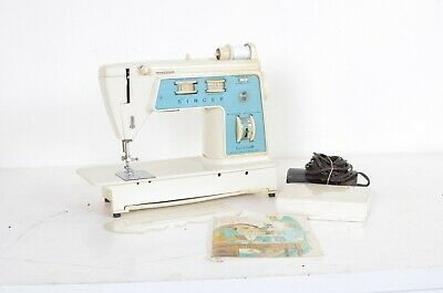 VTG Blue Singer Touch And Sew Sewing Machine Special Zig Zag Model 756 W/ Manual
