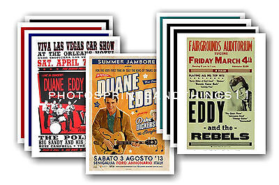 Duane Eddy  - 10 promotional posters - collectable postcard set # 1