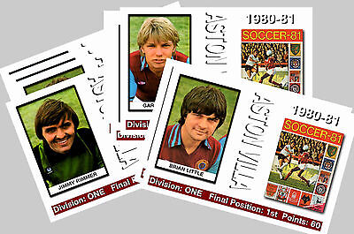 ASTON VILLA - 1980/81  SERIES 1 - COLLECTORS POSTCARD SET