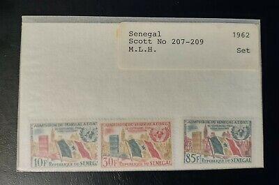 SENEGAL STAMPS • MINT HINGED 1962 Scott# 207-9 SET • FLAGS • 99¢ LOW START