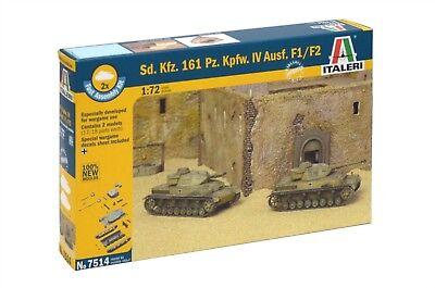 Italeri, Panzer IV F1, 7514, SdKfz. 161, 2 Stück Plastikmodellbau, GMK