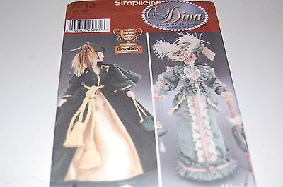 Simplicity Pattern # 7213 - Fashion Barbie Doll Diva Historical Gowns - NEW](Adult Barbie Doll Costume)