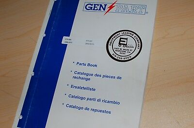 Perkins 1006-6tg Industrial Diesel Engine Parts Manual Book Catalog 2004 List