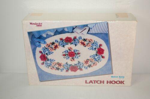 "Wonderart Latch Hook Kit Queen Anne 4490 NEW 34"" x 50"" Oval Rug SEALED"