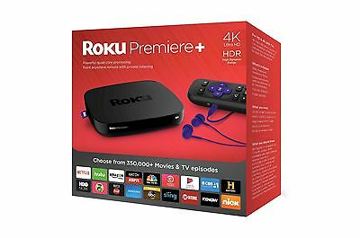 Roku Premiere  Plus 4K Hdr Streaming Media Player 4630R Brand New