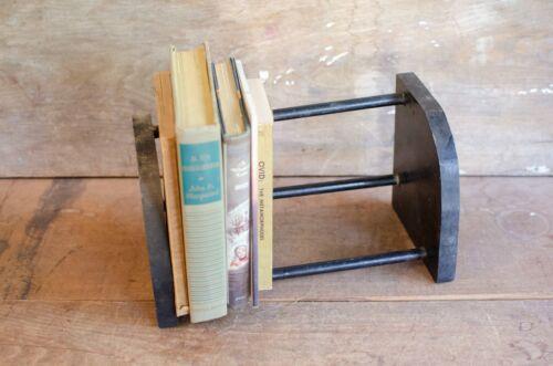 Vintage black Wood Desk Top Book Shelf Rack Book rack Book holder