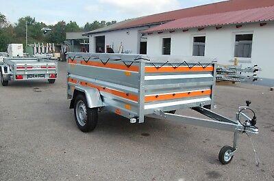 PKW-Anhänger 210x 125x 140 cm | 750 kg |205cm EXTRABREITE Bordwandaufsatz HPlane