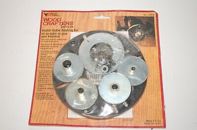 Vermont American Router Guide Bushing Kit 23458 Woodcraft Series Usa Made