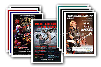 MICHAEL SCHENKER - 10 promotional posters  collectable postcard set # 1