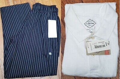 Chef Works Mens Designer Baggy Chef Pants Pinb White St. Johns Bay Polo New