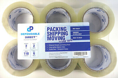 Dependable Direct Packing Shipping Moving Tape, Clear, 2