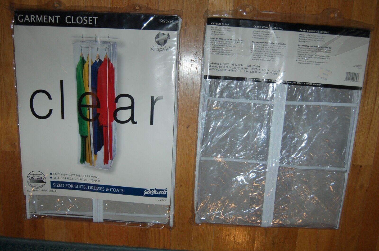 2 garment bag hanging storage clothes closet clear transpare