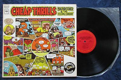 Big Brother   The Holding Company Cheap Thrills Vinyl  Lp Janis Joplin Ex
