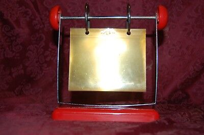 Red Roto Photo Hanging Rolodex Style Recipe Card File Holder Vintage Unique