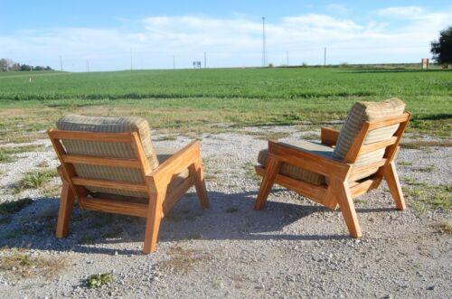 A Brandt ranch oak mid century  Lounge Chairs Armchairs