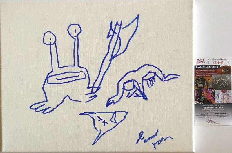 Daniel Johnston Original Art Signed Autographed 11x14 Canvas Sketch JSA COA