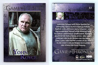 Yohn Royce #83 Game Of Thrones Season 6 Rittenhouse 2017 Trading Card