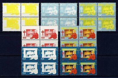 1948 USA Christmas Seal Progressive Proofs BLOCKS (7) . Mint Never Hinged