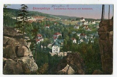 AK Schreiberhau Mariental mit Rabenstein farbig ungelaufen Pfingsten 1915