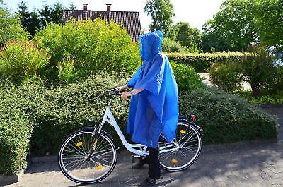 Regenponcho Regencape Herren Damen Fahrrad Wandern Schutz Regenbekleidung Kapuze