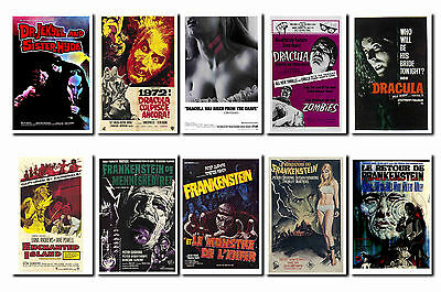 HAMMER - HORROR FILM POSTER POSTCARD SET # 2