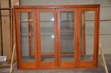 BIFOLD DOOR, SOLID CEDAR, 2640x2070H, 6MM TOUGHENED GLASS Vineyard Hawkesbury Area Preview