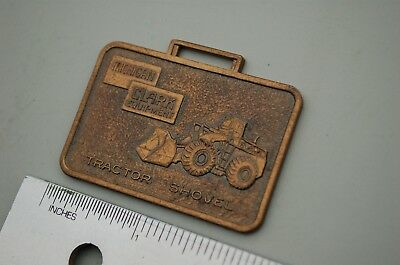 Michigan Clark Wheel Loader Vintage Watch Fob Metal Heavy Equipment Earth Mover