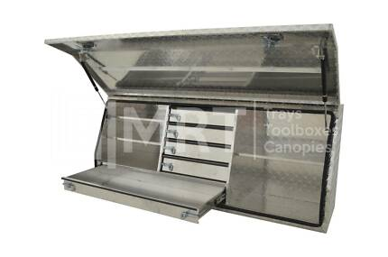 ALUMINIUM FULL OPENING TOOLBOXES W/ DRAWERS MRT21–1450x500x700mm