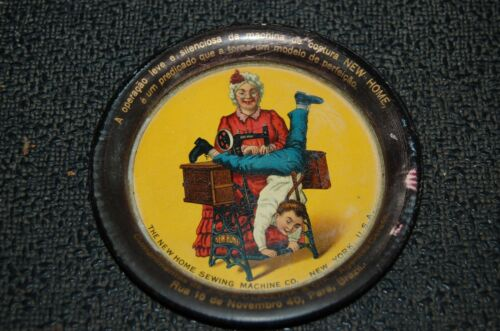 The New Home SEWING Machine Co Tin Tip Tray Ashtray Advertising