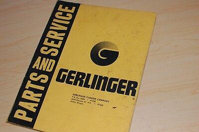 Towmotor Gerlinger Pf30 Forklift Truck Parts Manual Book Owner Operator