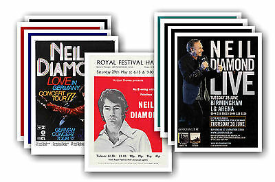 NEIL DIAMOND  - 10 promotional posters - collectable postcard set # 4