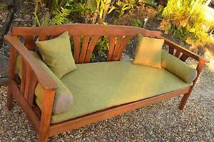 High Quality Jarrah Timber Outdoor Daybed Bench Chair / 4-Seater Cornubia Logan Area Preview