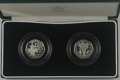 2006 VICTORIA CROSS  2 X 50p SILVER PROOF SET - boxed/coa
