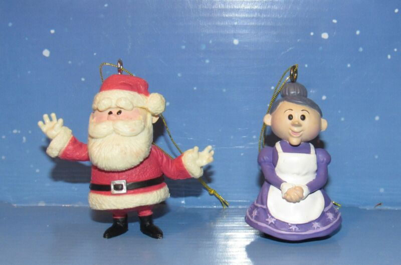 Rudolph The Red Nosed Reindeer Santa Claus and Mrs. Claus Ornament