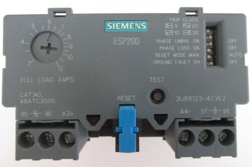 SIEMENS ESP200 OVERLOAD RELAY CATALOG NO 48ATC3S00 3-12A, 600VAC, 3 PHASE