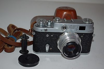 Fed-3, Type-1, Vintage 1964 Soviet Rangefinder Camera and Case. 4402323. UK Sale