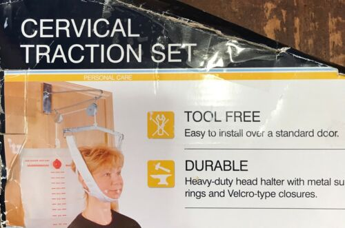 Cervical Traction Device Remedies Neck Pain Over Any Door w/out Tools: Med Depot