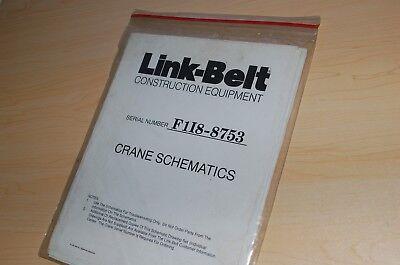 Link Belt Rtc8033xc Rough Terrain Crane Electrical Hydraulic Schematics Manual