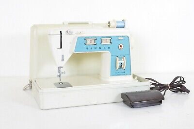 VTG Blue Singer Touch And Sew Sewing Machine Special Zig Zag Model 756 - Nice! J