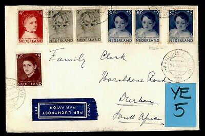 DR WHO 1957 NETHERLANDS HAARLEM AIRMAIL TO SOUTH AFRICA C242607