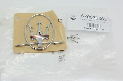 Maserati Quattroporte GranTurismo Ghibli Levante RH Side Logo Emblem Badge